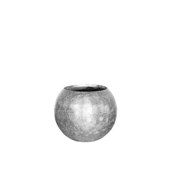 srebrna donica do ogrodu, na taras i do wnętrz
