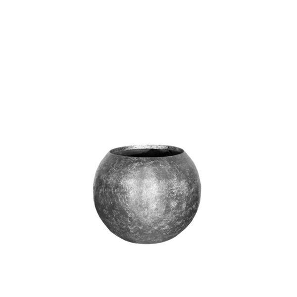 Donica ogrodowa metalizowana płatkami - srebro dymione