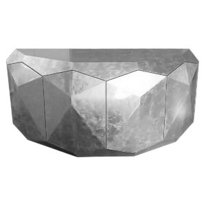 Srebrna komoda Allcut GRAD Design inspirowana brylantami
