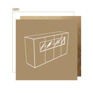 Złoto czarna komoda - nowoczesny design